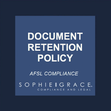 Afsl document retention policy template sophie grace afsl document retention policy template maxwellsz