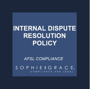 Afsl internal dispute resolution policy template for Dispute resolution policy template