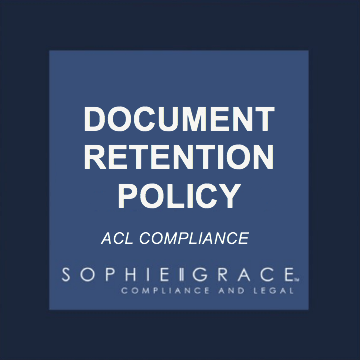 Acl Document Retention Policy Template Sophie Grace