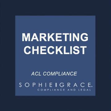 acl marketing checklist template