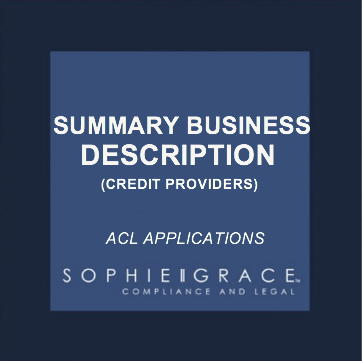 Acl summary business description template credit providers acl summary business description template credit providers flashek Image collections
