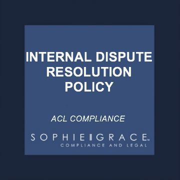 acl internal dispute resolution policy template including complaints register